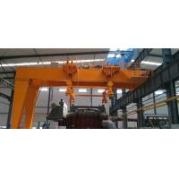 YT operation Q345B material handling situations applied FEM semi structure gantry crane for sale