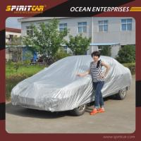 Wholesale 190T Terylene Silve Coated Outdoor Car Covers Protections From UV / Wind / Rain from china suppliers