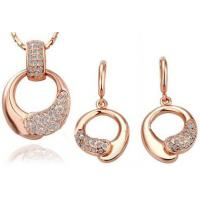 Wholesale Rose Gold  Ladies Jewelry Sets Earrings And Necklace Crystal Jewelry Sets from china suppliers