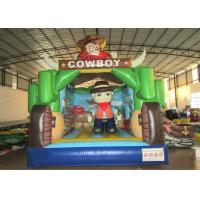 Wholesale Kindergarten Baby Custom Made Inflatables Cowboy 5 X 4 X 4m Double Stitching from china suppliers