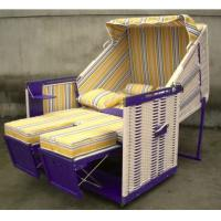 Wholesale Fir Wood And PE Rattan Roofed Beach Chair With 260g Terylele Fabric from china suppliers