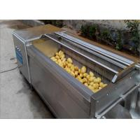 Wholesale Durable Wheels Potato Washing Machine Continuous Cleaning For Hotels Easy To Move from china suppliers