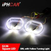 Wholesale IPHCAR Dual Color Led Angel eye Cree chip led angel eye with turn light BMW rings BMW angel eye led drl from china suppliers