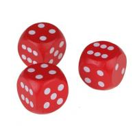 Wholesale red dice wood game dice wooden toy dice wood dice 18mm from china suppliers