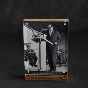 Quality 2 Tiers Black Acrylic Nail Polish Display Rack Custom Golden Logo Printing for sale