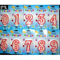 China 0-9 number shape candles hot sale colorful candle on sale