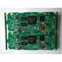 Customized A20 Prototype PCB Assembly , 4 layer green solder mask with SD connector