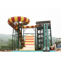Wholesale Outdoor Swimming Pool Boomerang Water Slide / Aqua Theme Park Fiberglass Slides from china suppliers