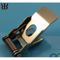 Wholesale Custom Lighting Metal Springs Flat Clip Industrial , Spring Retaining Clips from china suppliers