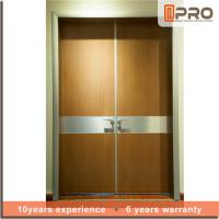 Wholesale Soundproof Double Leaf Swing Door , Aluminum Frame Interior Entry Door from china suppliers
