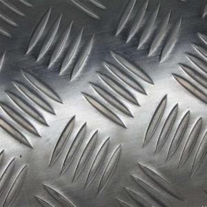 Wholesale 1060 Five Bars Pattern Aluminium Checker Plate , Aluminium Chequered Sheet Baseboard from china suppliers