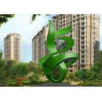 Wholesale Green Painted Contemporary Outdoor Metal Sculpture Abstract For Building from china suppliers
