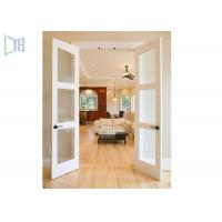 Wholesale Double Glazing Frosted Glass Aluminium Hinged Interior Swing Doors for Washroom from china suppliers