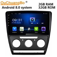 Wholesale Ouchuangbo car gps head unit stereo android 8.0 for Skoda Octavia 2010-2013 manual support USB SWC wifi AUX radio from china suppliers