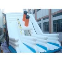 Wholesale White Commercial Inflatable Slide / Double Lanes Titanic Inflatable Slide from china suppliers