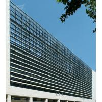 China Public Architectural Sunshade Louvers Architectural Sun Control System 600 Aeroscreen for sale