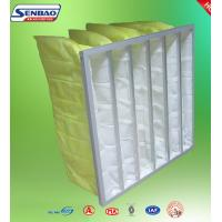 Wholesale Yellow Industrial Air Filters High Efficiency Multi Pockets Synthetic Bag from china suppliers