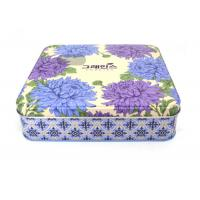 China Logo Engraved Custom Packaging Boxes Food Grade Tin Box Low MOQ Hinged Top for sale
