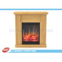 Buy cheap Solid Wood Veneer MDF Home Decor Fireplaces With Paint Finished / 905mm * 255mm * 970mm from Wholesalers