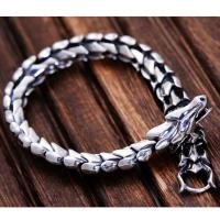 Wholesale Thai 925 Silver Dragon Link Bracelet Men Vintage Jewelry (059082) from china suppliers