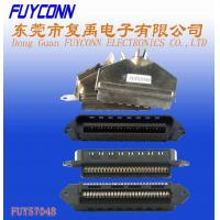 Wholesale Centronics 25 pairs IDC Male Plug Connector 50 pin 180 degree metal cover from china suppliers