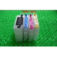 Wholesale PP 15ML Refillable ink cartridge T0741-T0744 for Epson Desktop Printer with permanent chips from china suppliers