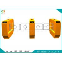 Wholesale RS485  Yellow Swing Barrier Gate With IR Sensor Anti-pinch Bi-direction Door from china suppliers
