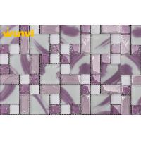 Wholesale Square Waterproof  Bathroom Mosaic Tiles , Pink Mosaic Bathroom Tiles from china suppliers