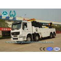 White 8X4 Heavy Duty Rotator Wrecker Tow Truck With Boom Rotation 360°