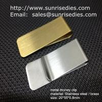 Wholesale Classic cash money clip credit card holder, custom brushed brass cash money clips from china suppliers