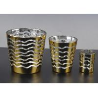 Wholesale Short Jar Candle Holders For Tea Lights , Glass Tea Candle Holders from china suppliers