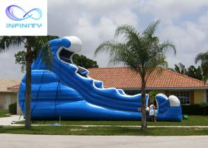 Wholesale Commercial 6.5 Meters High Blue Wavy Inflatable Water Slide For Outdoor Summer Fun from china suppliers