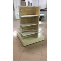 Wholesale Wooden Clothing Store Fixtures Metal 4-Way Garment Shop Display Racks Floor Standing from china suppliers