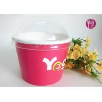 Wholesale Printing Diposable ice cream paper cups with lids for Frozen Yogurt from china suppliers