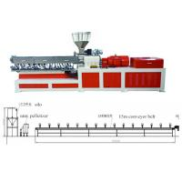 Wholesale Plastic Twin Extruder Machine Conveyor Belt Pelletizing Without Water 220V / 380V / 480V from china suppliers