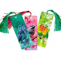 Wholesale Custom 0.6 mm PET 3D Lenticular Bookmark With Two Sides CMYK Printing from china suppliers