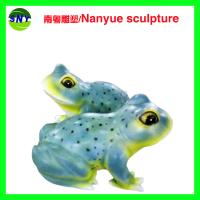Buy cheap public art  large frog sculptures statues of fiberglass nature painting as landscape from wholesalers