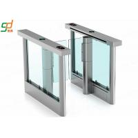 Wholesale RFID Card Reader Swing Barrier Gate Fastlane Security Glass Arm Turnstiles from china suppliers