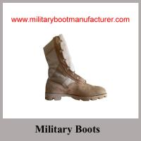 Quality Wholesale China Made Full Grain Cow Suede Military Desert DMS Boot for sale