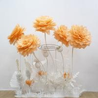 China New Paper Camellia Tissue Paper Pom Poms Craft Party Decoration for sale