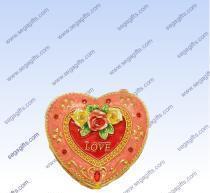 China Pewter Heart shape jewelry box on sale
