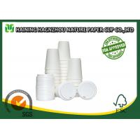 Wholesale White Double Walled Disposable Coffee Cups , Takeaway Paper Coffee Cups With Lids from china suppliers