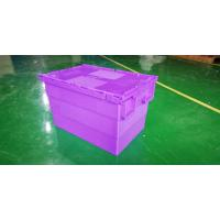 China Water - Proof 600*400*365 Mm Stacking Plastic Totes With Anti - Theft Button Seal for sale