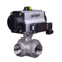 Wholesale Pneumatic clamp quick ball Health valve stainless steel  health articulated type pneumatic three-way ball valve from china suppliers