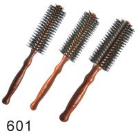 Custom Ionic Styling Blow Dry Wooden Round Hair Brushes Combs for sale