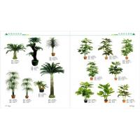 Buy cheap plastic fake mini bonsai plant artificial art flower artificial green trees from wholesalers