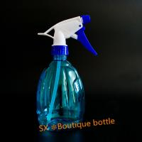 Quality Cheap garden custom350ml clear boston round   mini trigger top PET bottles for sale