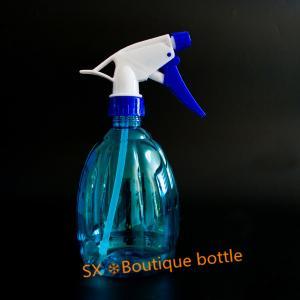 Quality Cheap garden custom350ml clear boston round mini trigger top PET bottles for sale