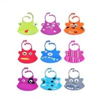 Wholesale waterproof silicone baby bibs with snaps adjustable ,silicone kid bib from china suppliers