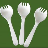 China biodegradable cutlery/ CPLA tasting spork on sale